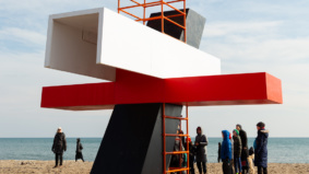 A look at the giant, interactive art installations taking over Woodbine Beach