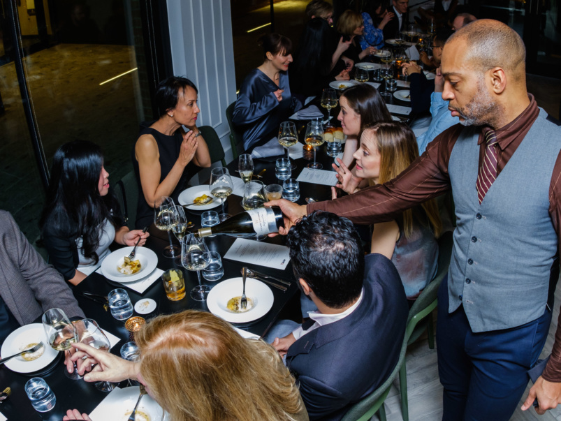 What went down at TL Insider's one-of-a-kind dinner with winemaker Thomas Bachelder, in Alo's stunning new private event space