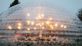 Real Weddings: This reception took place inside a giant inflatable bubble