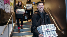 """""""It's the nectar of the gods"""": Why these Torontonians lined up in the cold to be the first to buy White Claw"""