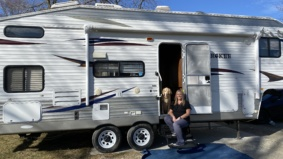 """I was worried about transmitting the coronavirus to my mom, so I moved into a trailer in the driveway"""