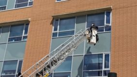 """""""I would move mountains to see him"""": A Toronto family borrowed a bucket truck to visit their grandfather through a third-floor hospital window"""