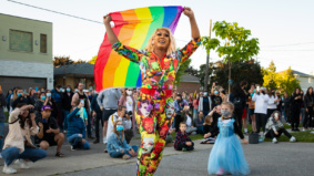 """Kids enjoying drag gives me hope for an inclusive future"": These drag queens produce extravagant shows on the curb for their neighbours"