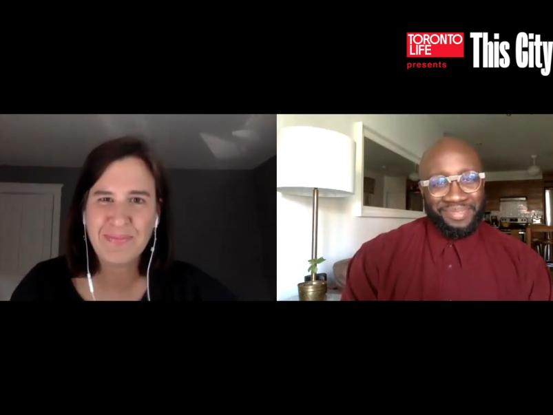 Paul Taylor of FoodShare in conversation with <em>Toronto Life</em> editor Sarah Fulford
