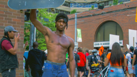 """""""We will be truly free when we can walk down the street without being looked at differently"""": Scenes from the weekend's protest"""