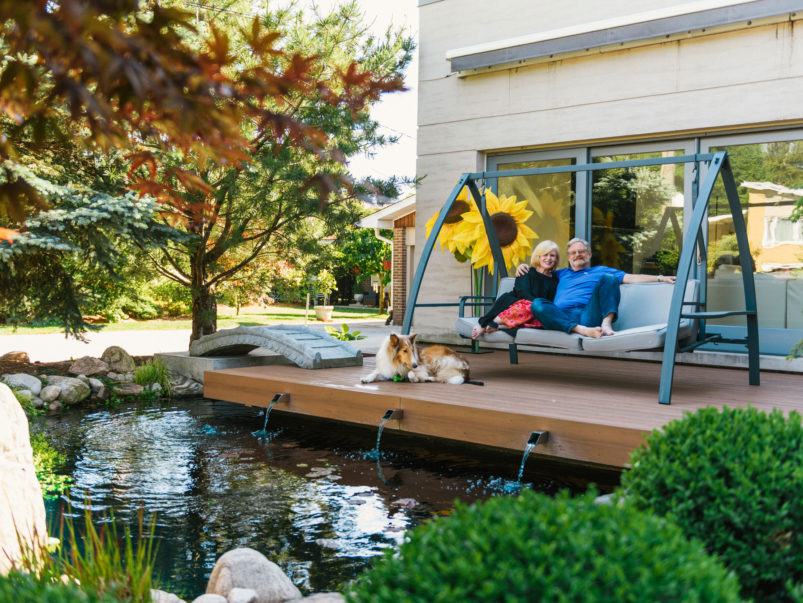 This backyard is inspired by idyllic Japanese gardens