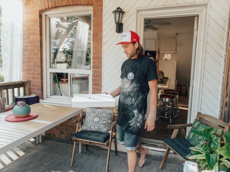 Toronto's semi-secret, Saturday-night-only pizza place is actually this guy's back porch
