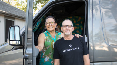 After the pandemic hit, we cashed in on our house and moved into a camper van