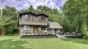 This island cottage just sold for $550,000. It's got a fully powered treehouse