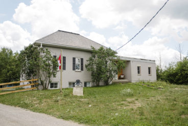Angela Durante and László Dukát's home, a century-old Uxbridge schoolhouse
