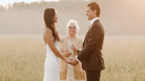 Real Weddings: How this couple planned a dreamy, off-the-grid elopement at a former buffalo farm
