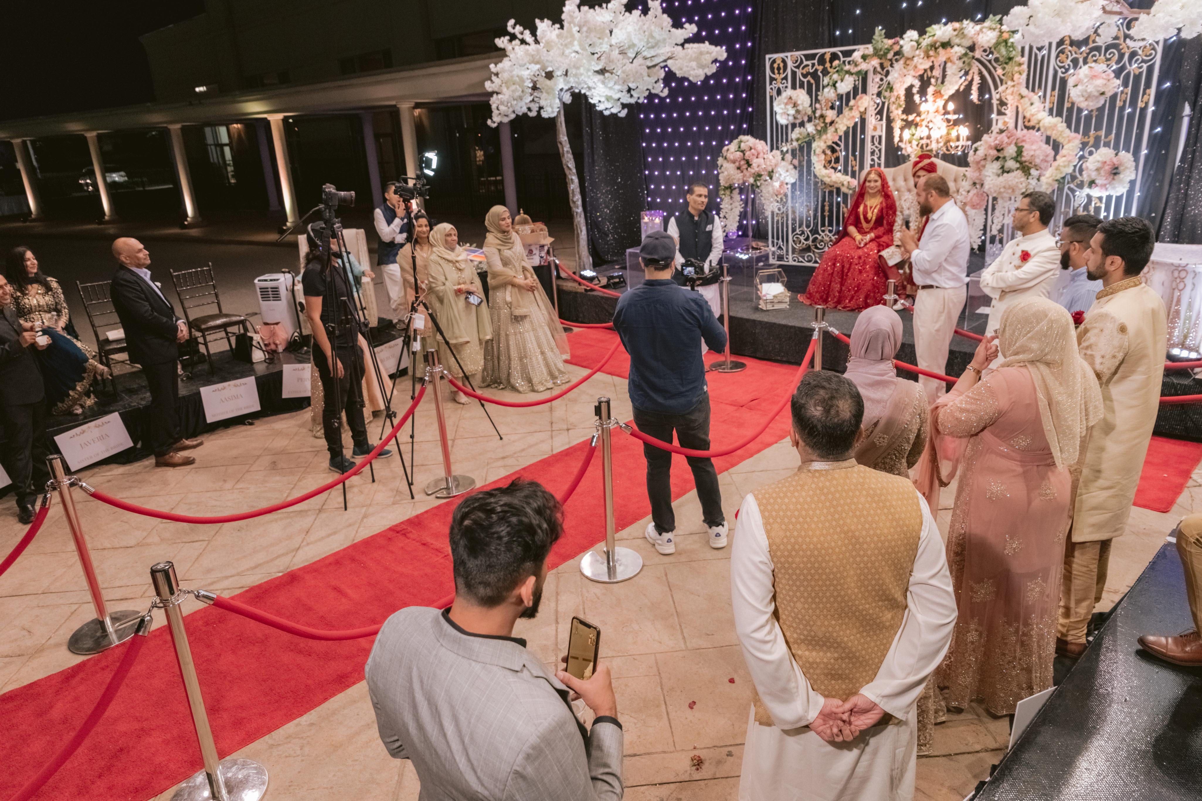 Malaika Pervez and Faraz Hussaini's drive-through wedding at Brampton's Pearson Convention Centre