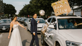 Real Weddings: Inside a backyard ceremony with a surprise drive-by parade