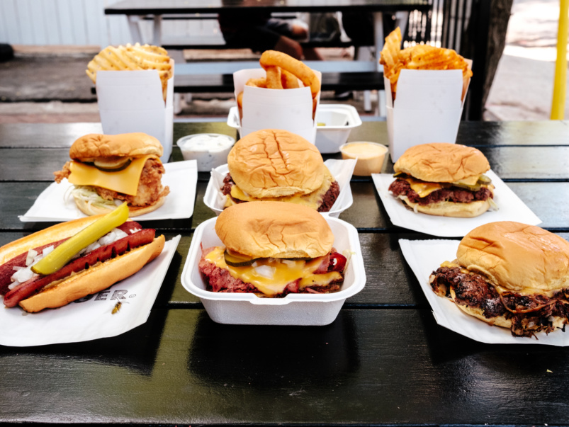 What's on the menu at Happy Burger, the west end's new spot for smash burgers, hot dogs and waffle fries