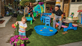 """Adventures in real estate: """"We turned our back alley into a turfed-out kids' paradise"""""""