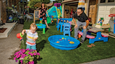 "Adventures in real estate: ""We turned our back alley into a turfed-out kids' paradise"""