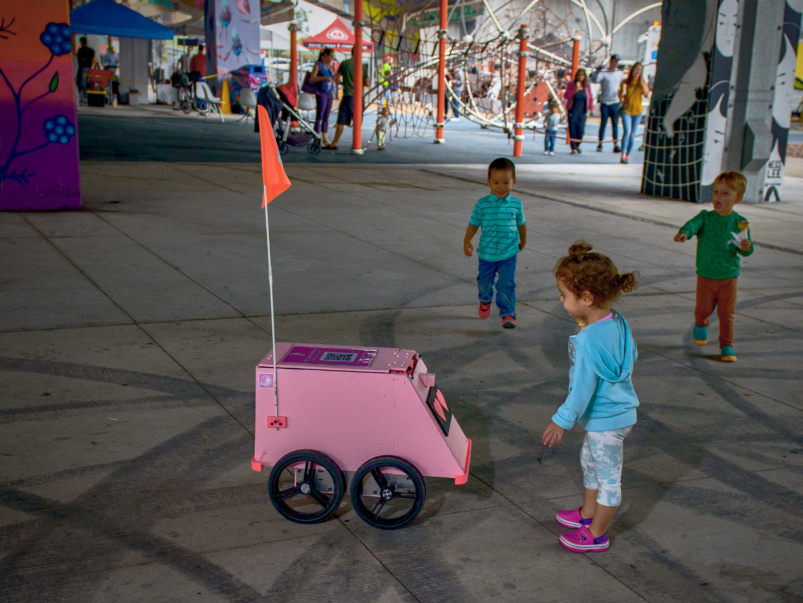 """We liken it to the invention of the washing machine"": A Q&A with the creator of Geoffrey, Toronto's adorable new delivery robot"