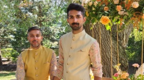 Real Weddings: Inside a zero-waste same-sex backyard wedding