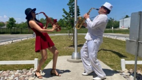 """""""I've seen people dancing on their balconies"""": This nurse and saxophonist plays outdoor concerts for locked-down seniors' homes"""