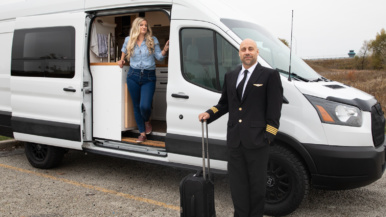 """""""We've seen a lot of parking lots, which is not what we signed up for"""": How a pilot and a flight attendant are adjusting to van life in a pandemic"""