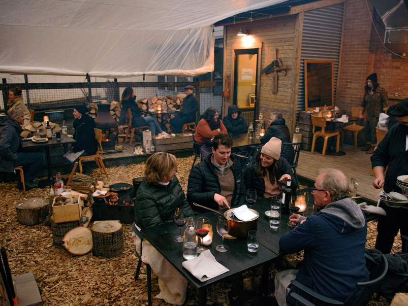 Campfires, creativity and two weeks at a time: How Actinolite turned their backyard into a cozy and cottage-y, pandemic-friendly patio