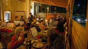 Sheepskin blankets, open-flame heaters and $12,000: How Farmhouse Tavern winterized their patio by building a barn