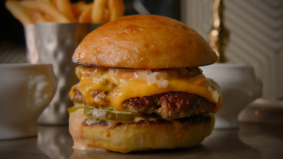 What's on the menu at Victory Burger, chef Victor Barry's new virtual smash burger business