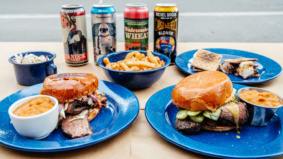 What's on the takeout menu at Camp Smokehouse, a weekly barbecue pop-up operating out of a temporarily closed arcade bar