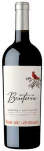 Bottle of Bonterra Cabernet Sauvignon Wine