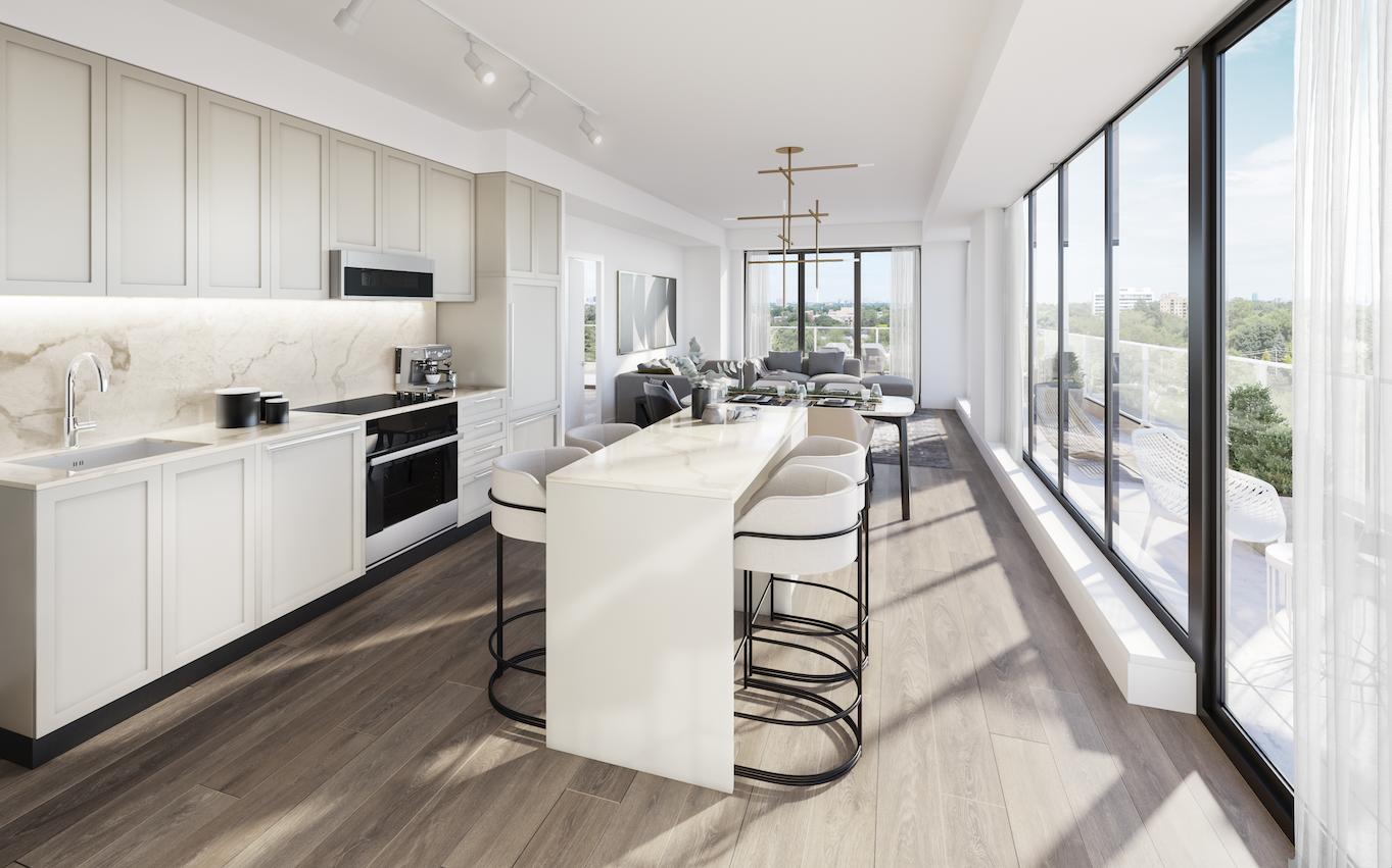 Modern kitchen set-up in 250 Lawrence