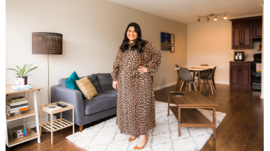 She moved back in with her parents. It helped her save for a $380,000 condo in Scarborough