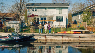 This family ditched city life for a $900,000 house on Lake Simcoe