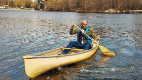 He went up to the Kawarthas early in the pandemic. Now he canoes to work