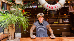 Colourful drinks, beachy vibes and a cocktail takeout window: How the patio at Toronto's new tropical bar came together