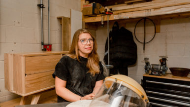 """""""I went from making small bowls to doing custom furniture"""": When her wedding shoots dried up, this photographer started woodworking"""