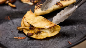 How to make the melty mushroom quesadillas from Birria Balam chefs Julio Guajardo and Kate Chomyshyn