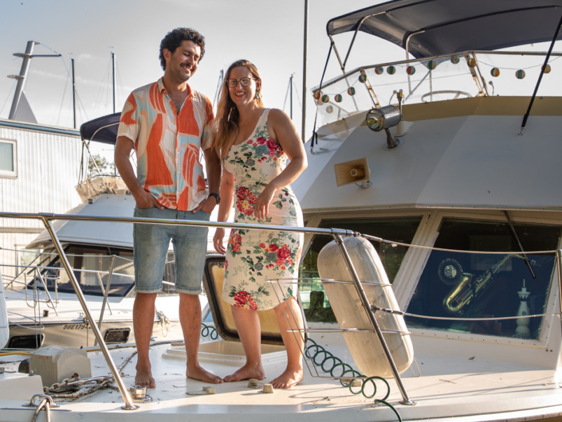 This couple moved into their $40,000 motor yacht for the summer