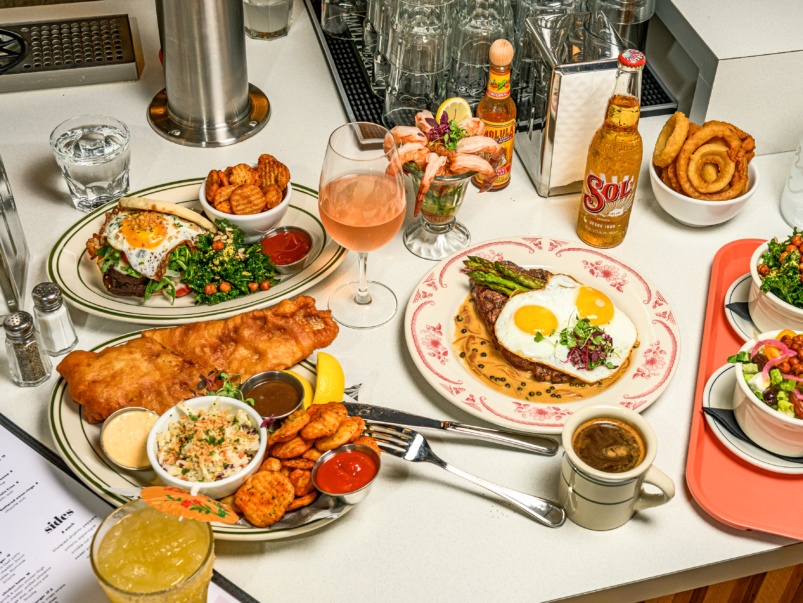 What's on the menu at Mira Mira Diner, a retro-inspired spot in the Beaches for comfort food and cocktails