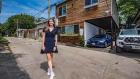 Laneway living means she can stay close (but not too close) to her parents