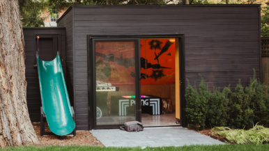A Forest Hill family turned their backyard shed into an '80s arcade