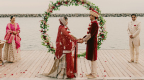 Real Weddings: Inside an intimate lakefront Indian-Canadian ceremony