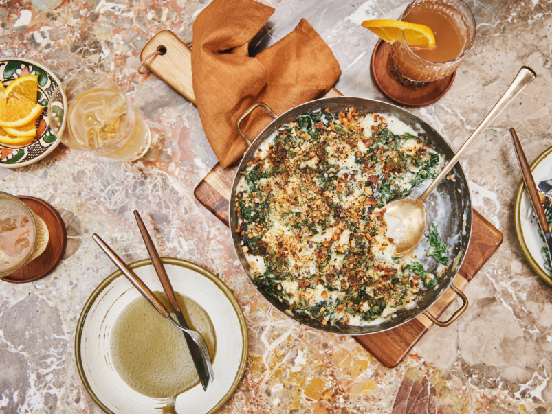 How to make Barberian Steak House chef Jesse Vallins' exceptionally cheesy chard with vermouth